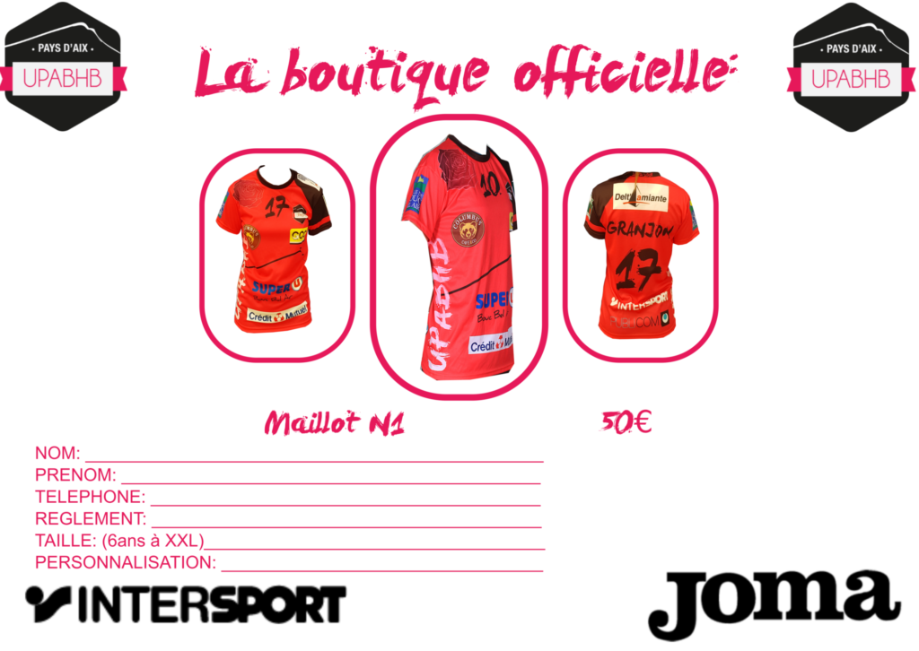 Boutique maillot nationale1 upabhb aix provence