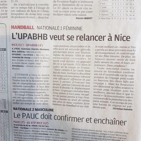 N1 face à Nice